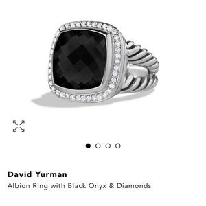 David Yurman Albion Black Onyx Diamond Ring size 8